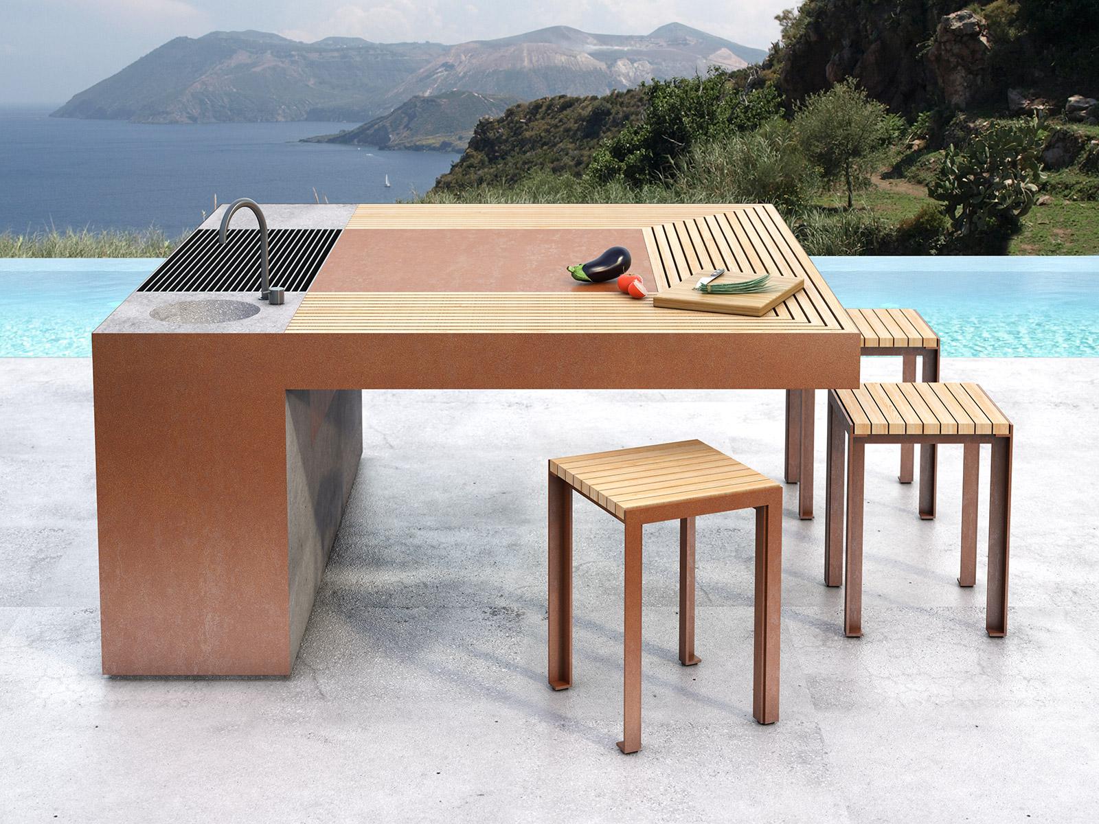 Fuoco fiamme artena design - Barbecue di design ...